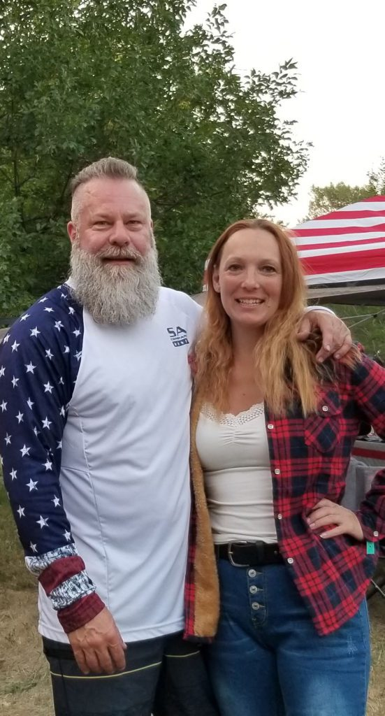 Couple at Creekside Campground during Sturgis Rally